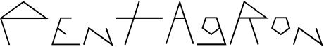 Pentagron Font