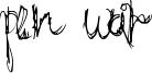 Pen War Font