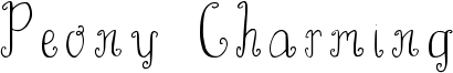 Peony Charming Font