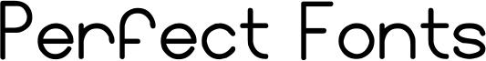Perfect Fonts Font