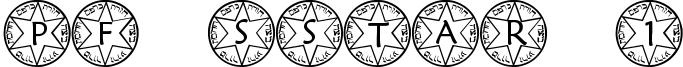 PF Sstar 1 Font