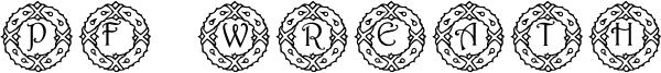 PF Wreath Font