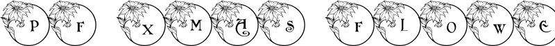 PF Xmas Flower 1 Font