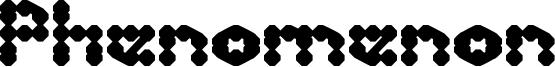 Phenomenon Font