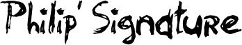 Philip' Signature Font