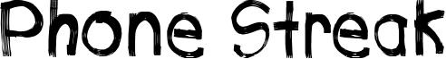 Phone Streak Font