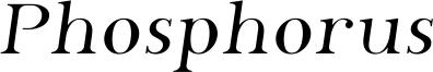 Phosphorus Font