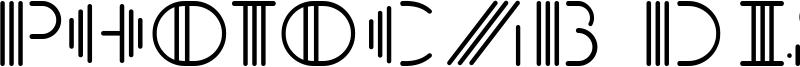 PhotoCab Display Font