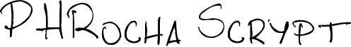 PHRocha Scrypt Font