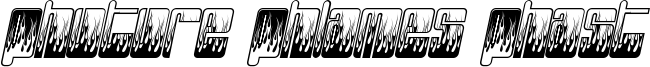 Phuture Phlames Phast Font