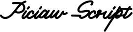 Piciaw Script Font