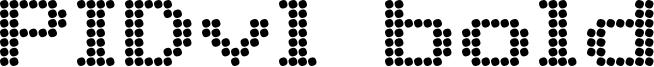 PIDvl bold Font