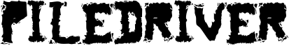 Piledriver Font