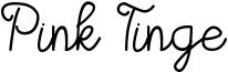 Pink Tinge Font