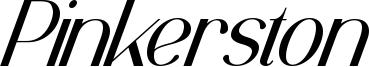 Pinkerston Font