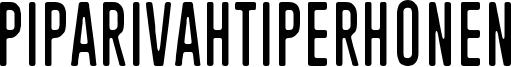 Piparivahtiperhonen Font