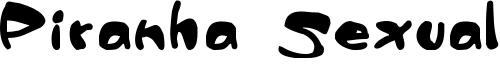 Piranha Sexual Font