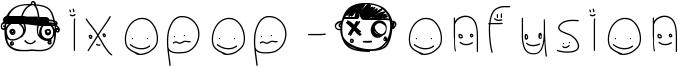 Pixopop Confusion Font