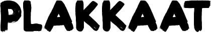 Plakkaat Font