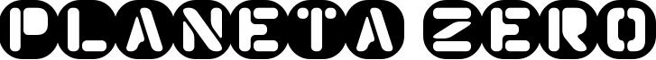 Planeta Zero Font