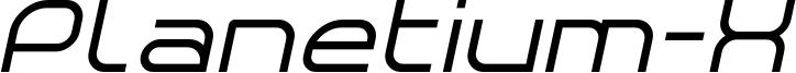 Planetium-X Italic Demo.otf