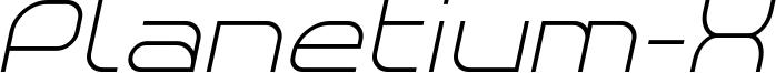 Planetium-X Light Italic Demo.otf