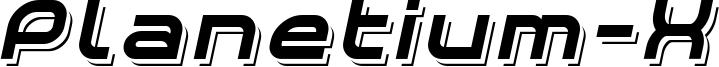 Planetium-X Shadowed Italic Demo.otf