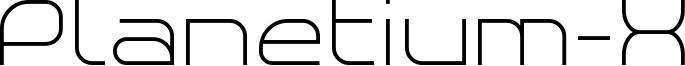 Planetium-X Font