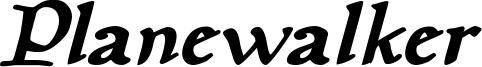 Planewalker Bold Italic.otf