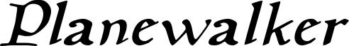 Planewalker Italic.otf