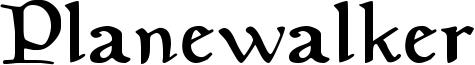 Planewalker Font