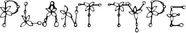 Plant Type Font