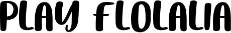Play Flolalia Font