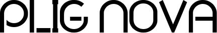 Plig Nova Font