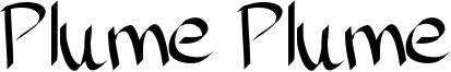 Plume Plume Font