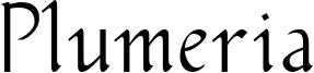 Plumeria Font