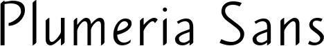 Plumeria Sans Font