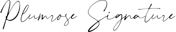 Plumrose Signature Font