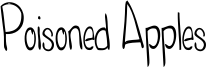 Poisoned Apples Font