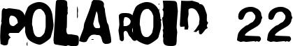 Polaroid 22 Font