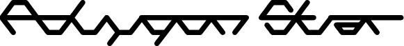 Polygon Star Font