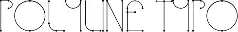 Polyline Typo Font