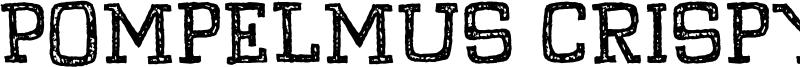 Pompelmus Crispy Font