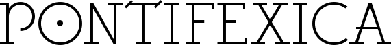 Pontifexica Font