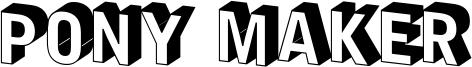 Pony Maker Font