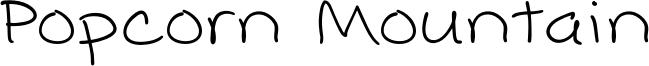 Popcorn Mountain Font
