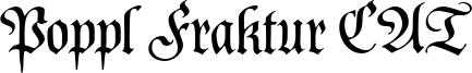 Poppl Fraktur CAT Font