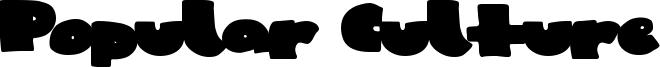 Popular Culture Font