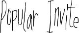 Popular Invite Font