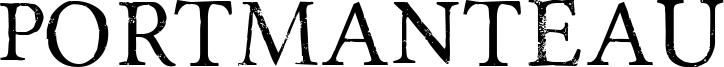 Portmanteau Font